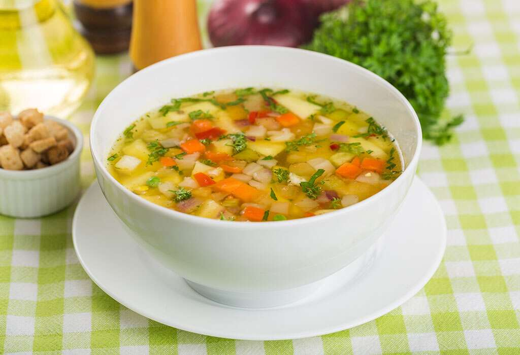 Mix Vegetable Soup for Babies